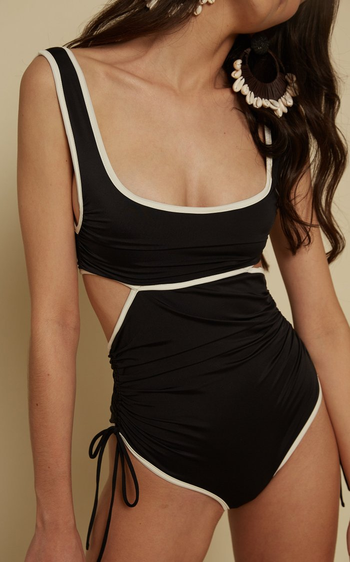 Excursionist Ruched Cutout One-Piece Swimsuit