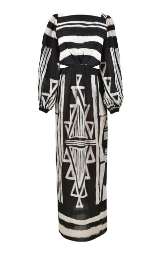 Items Of Value Printed Cotton Maxi Dress