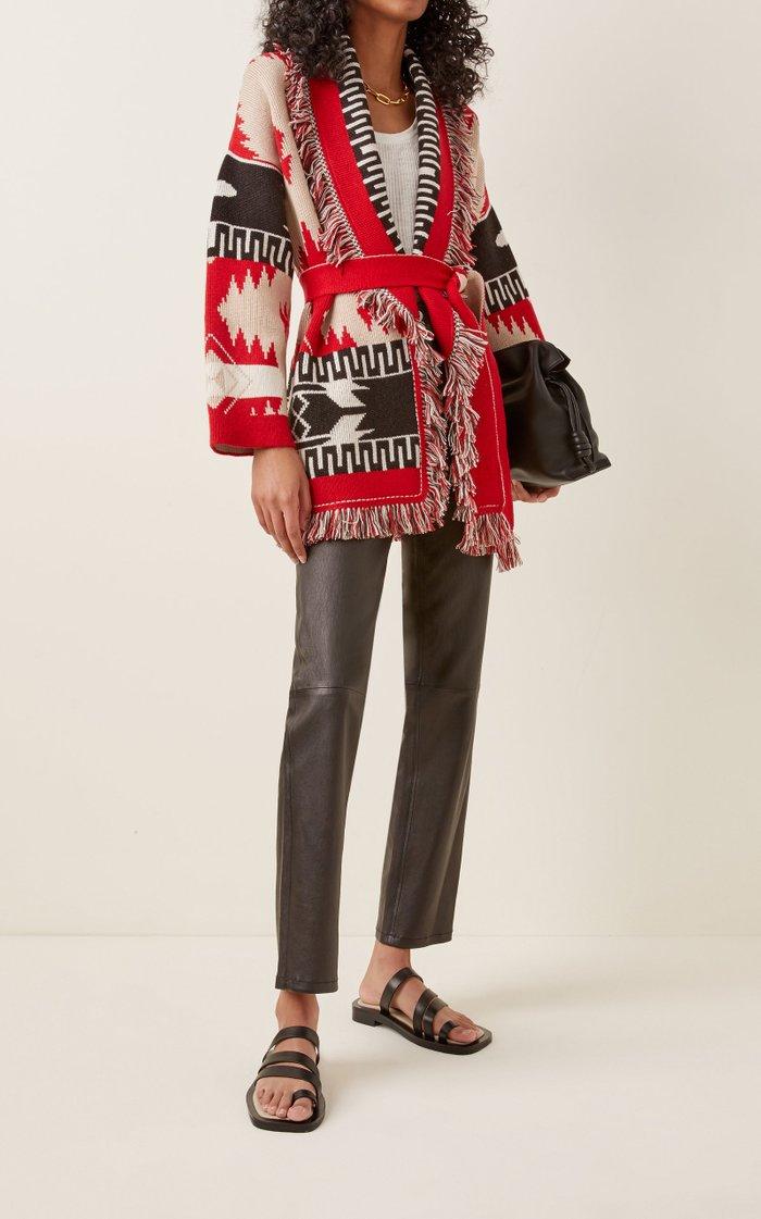 Icon Fringed Cashmere-Wool Cardigan