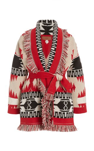 Icon Fringed Cashmere-Wool Cardigan