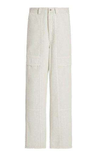 Hildur Acid-Washed Straight-Leg Cargo Jeans
