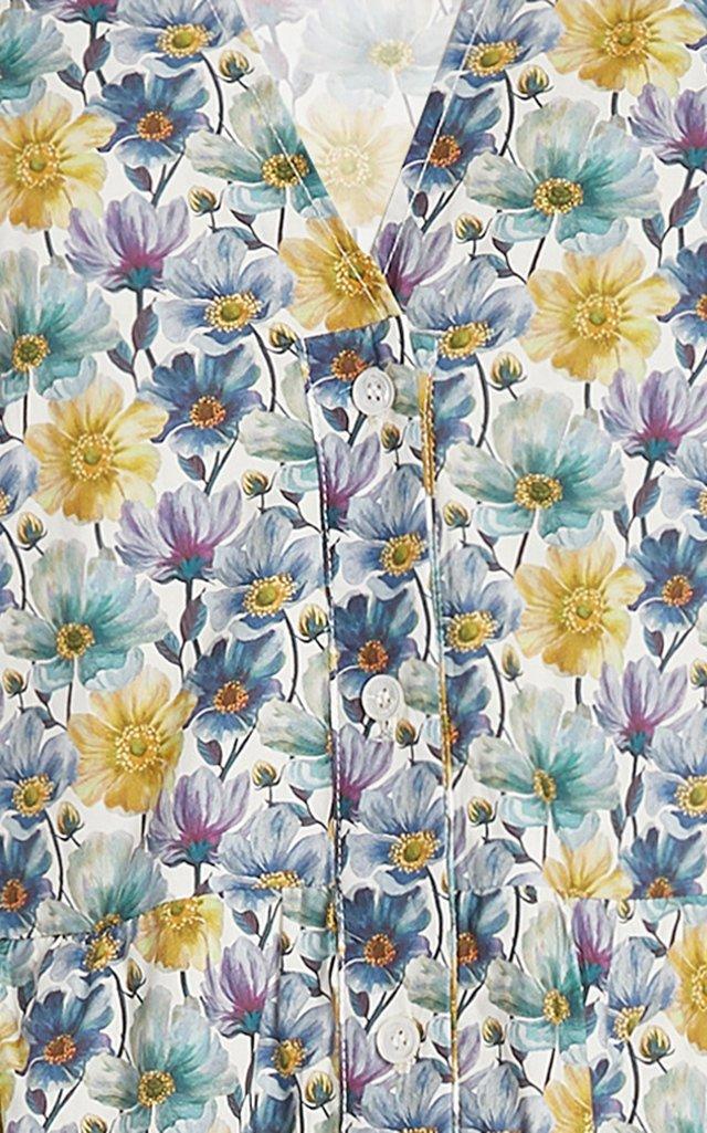 Leslie Printed Cotton Midi Dress