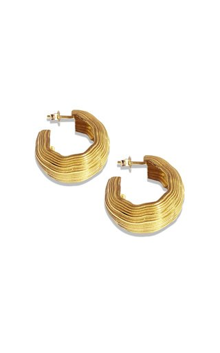 Abluvio 18k Gold Vermeil Hoops