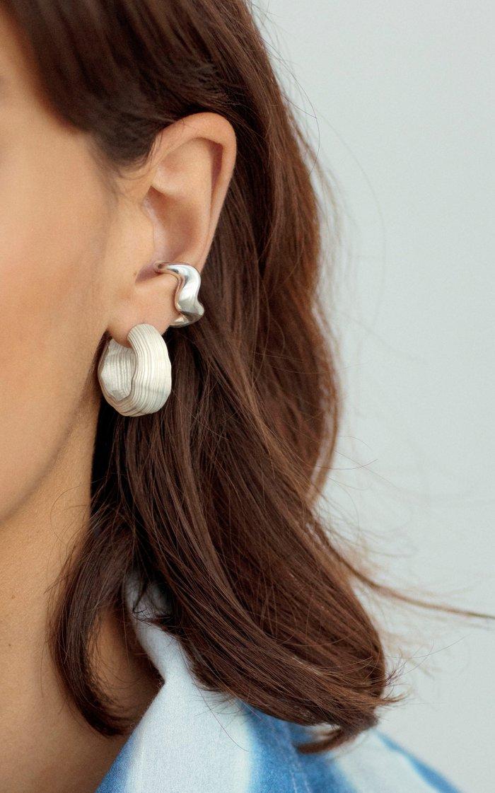 Aurea Polished Sterling Silver Ear Cuff