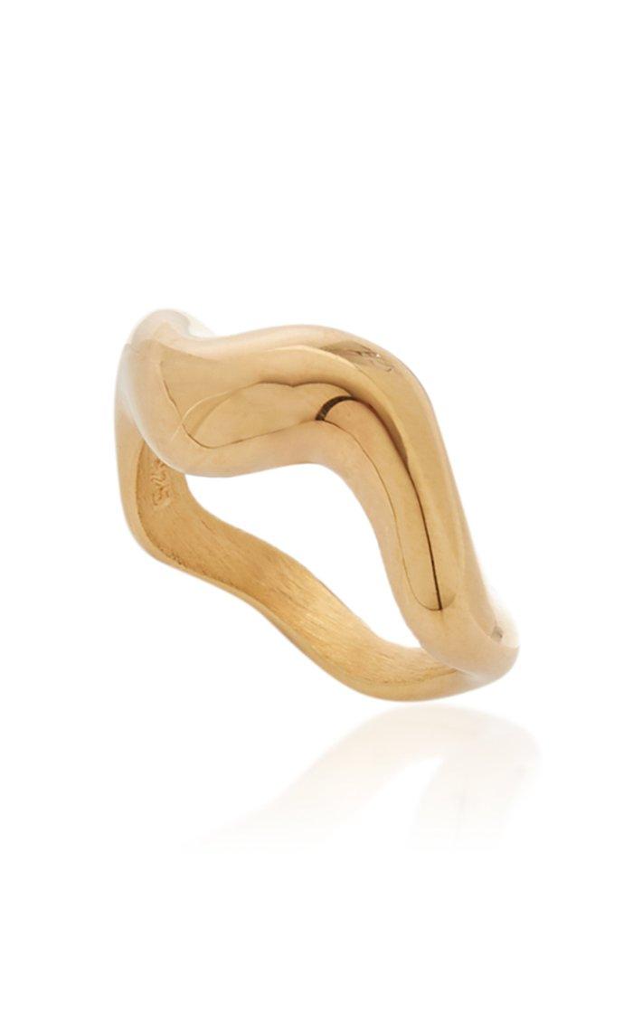 Aurea Polished 18k Gold Vermeil Ring