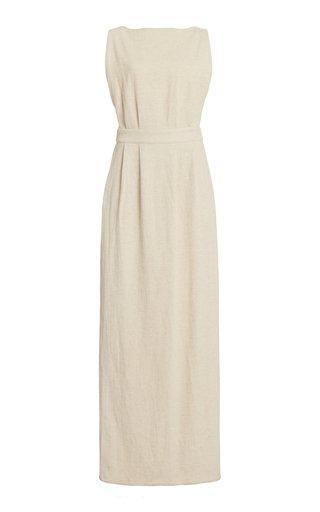 Open-Back Cotton Maxi Dress
