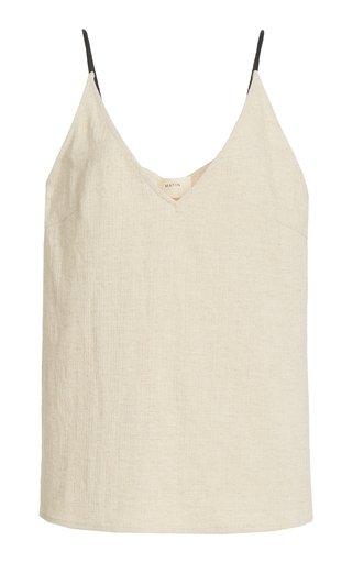 Slub Cotton-Twill Camisole Top