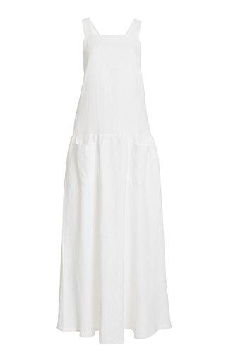 Linen Apron Maxi Dress