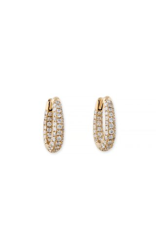 14K Yellow Gold Inside Out Oval Mini Hoops