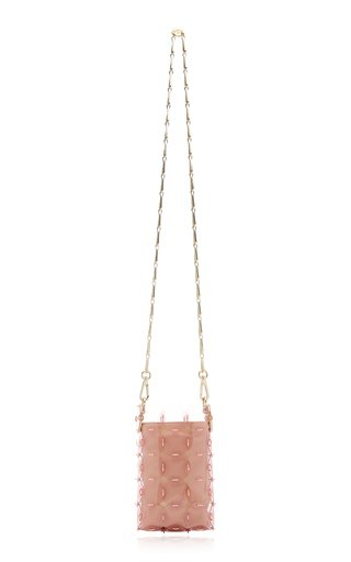 Mini Disc Paillette-Embellished Bag