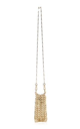 Iconic 1969 Mini Gold-Tone Brass Chainmail Bag