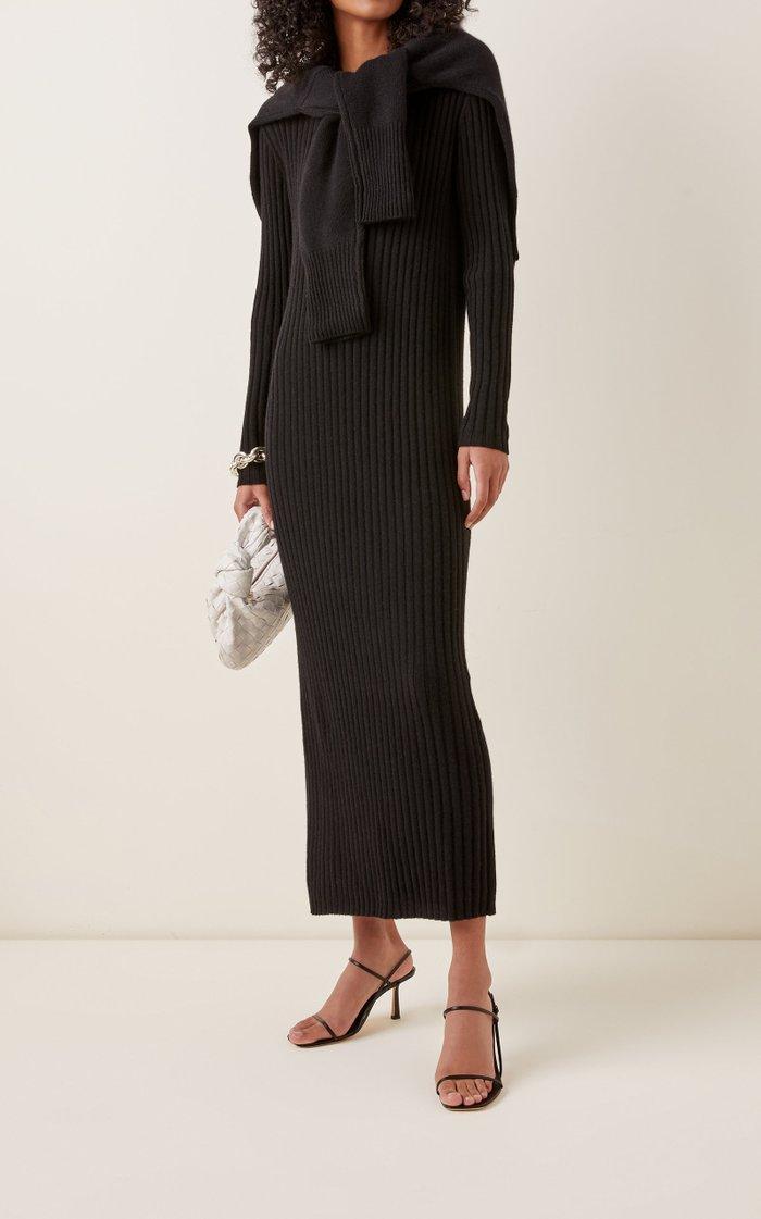 Rita Ribbed Cashmere Midi Dress