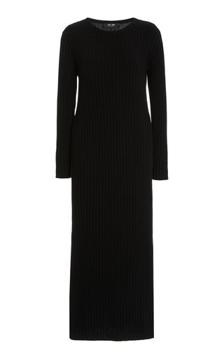 Rita Ribbed Cashmere Midi Dress