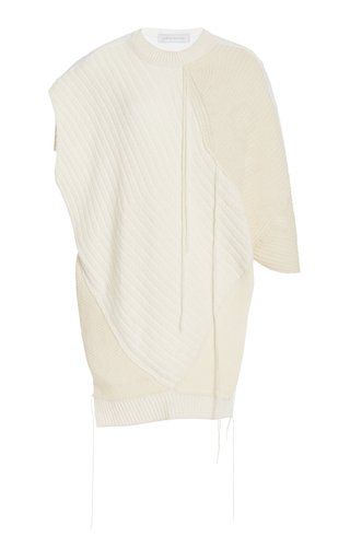 Mixed-Knit Cashmere-Silk And Jersey Top