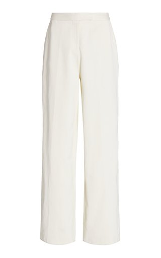 Crepe Relaxed Straight-Leg Trousers
