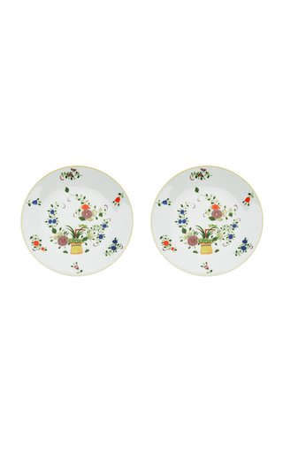 Set Of 2 Chinoiserie Garden Dessert