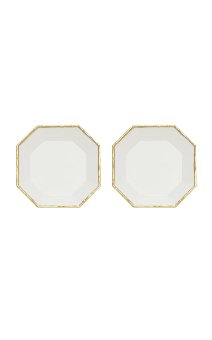 Set Of 2 Bamboo Octagon Dessert