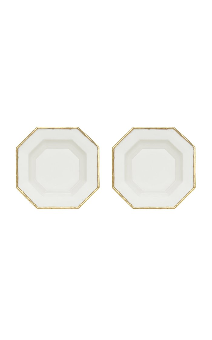 Set Of 2 Bamboo Octagon Soup