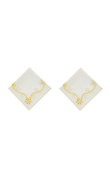 Set Of 2 Floral Napkin