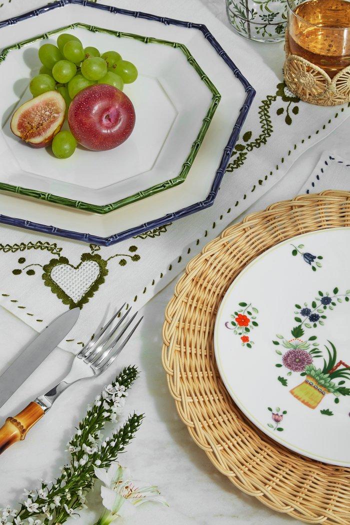 Set Of 2 Basketweave Salad Plate