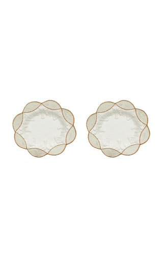Set Of 2 Basketweave Salad Plate