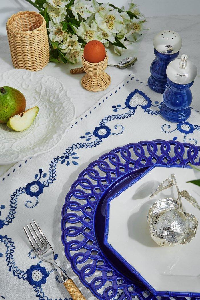 Set Of 4 Murano Border Water Glass