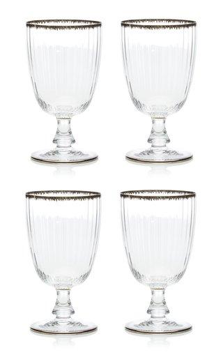 Set Of 4 Murano Flame Water Glass
