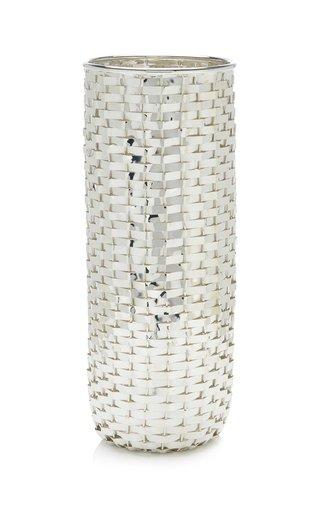 Silverplate Evian Bottle Holder