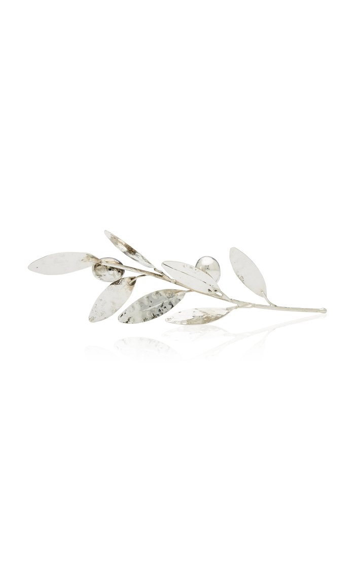 Silverplate Olive Branch Small And Silverplate Olive Branch Large Set