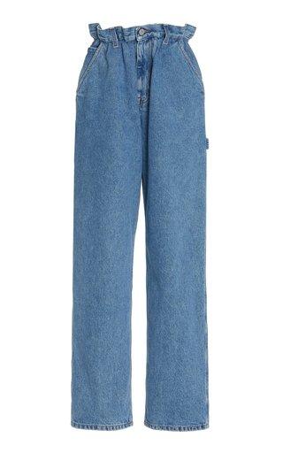 Iconic Rigid High-Rise Straight-Leg Blue Jeans