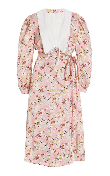 Printed Satin Sable Dress