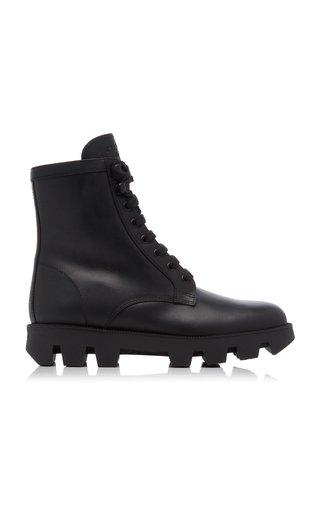 Leather Lug-Sole Boots