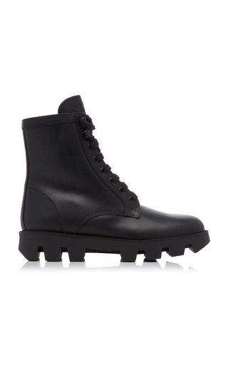Leather Lug-Sole Boots
