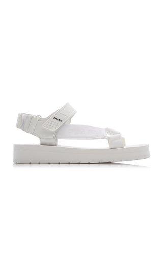 Rubber-Trimmed Webbed Sandals