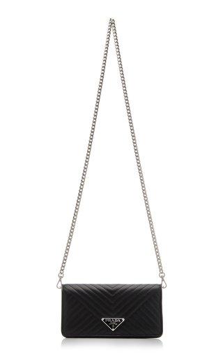 Prada Diagramme Leather Mini Bag