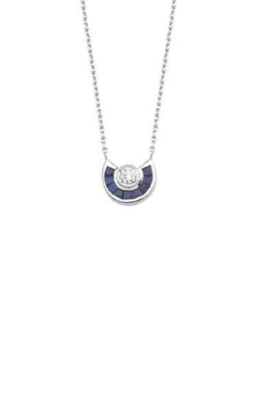 Paris 18K White Gold Sapphire and Diamond Necklace