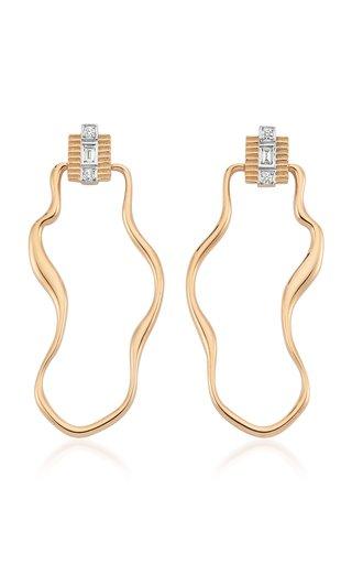 La Linea 14K Rose Gold Diamond Earrings