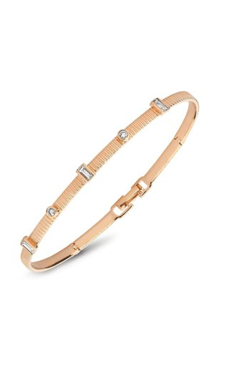 La Linea 14k Rose Gold Diamond Bracelet