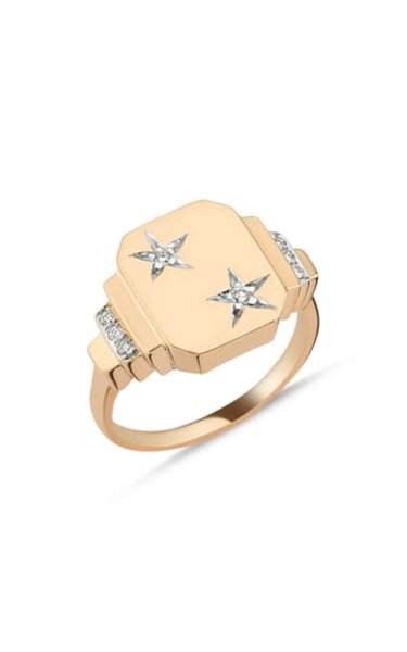 Luna 14K Yellow Gold Diamond Ring