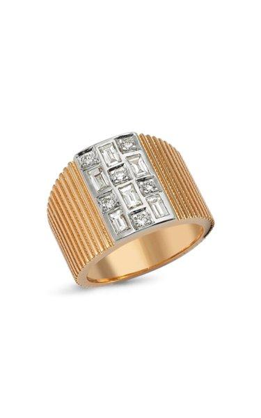 La Linea 14k Rose Gold Diamond Ring