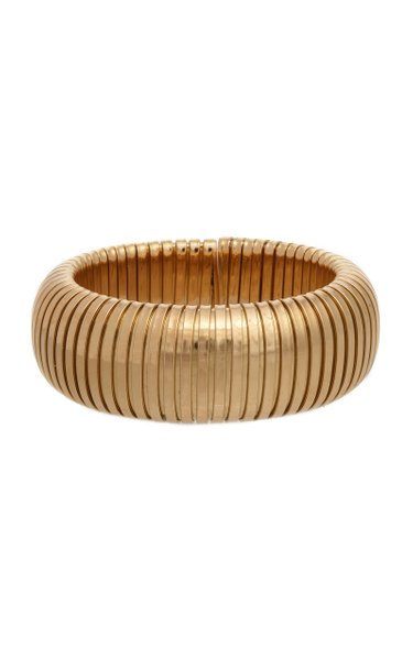 Domed 18K Yellow Gold Cuff