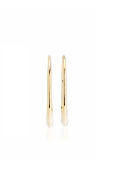 Oval 18K Yellow Gold Hoop Earrings