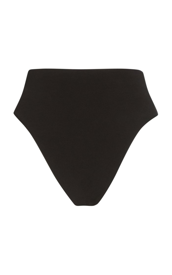 Stretch-Crepe High-Rise Bikini Briefs