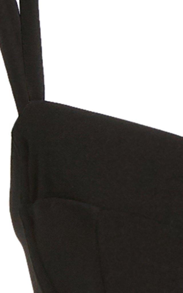 Stretch-Crepe Bikini Top