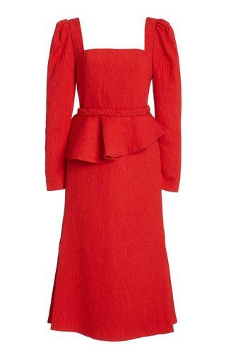 Exclusive Catalyst Crepe Peplum Midi Dress