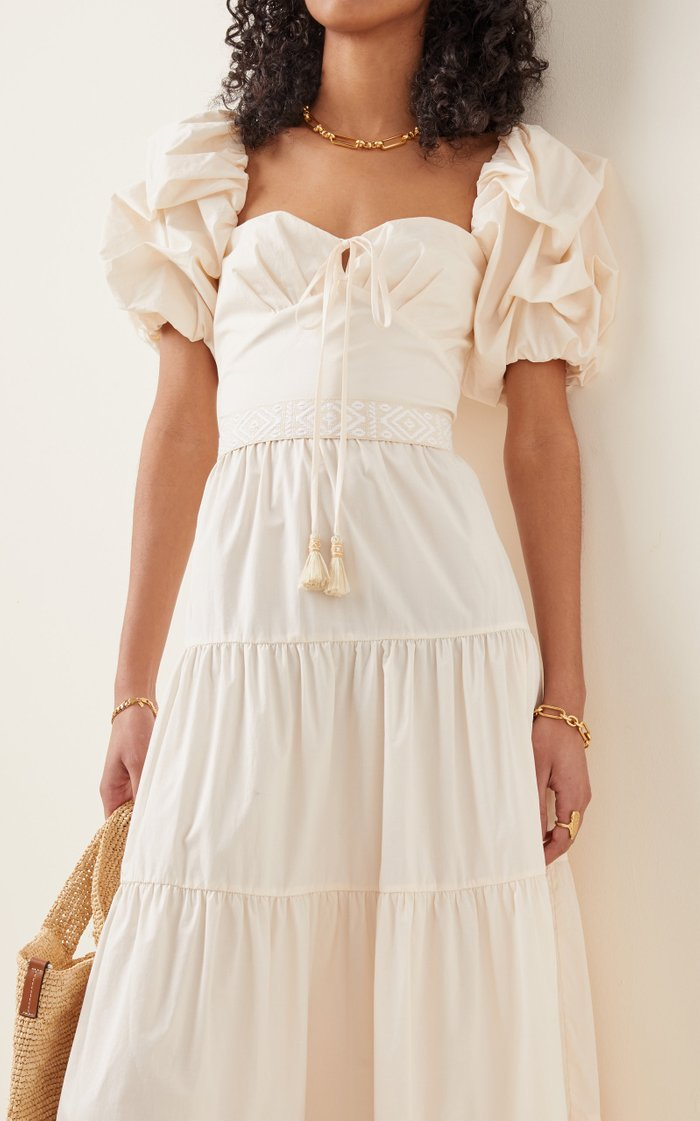 Exclusive Botanical Heritage Cotton Maxi Dress