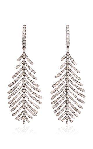 Plume 18k White Gold Diamond Earrings
