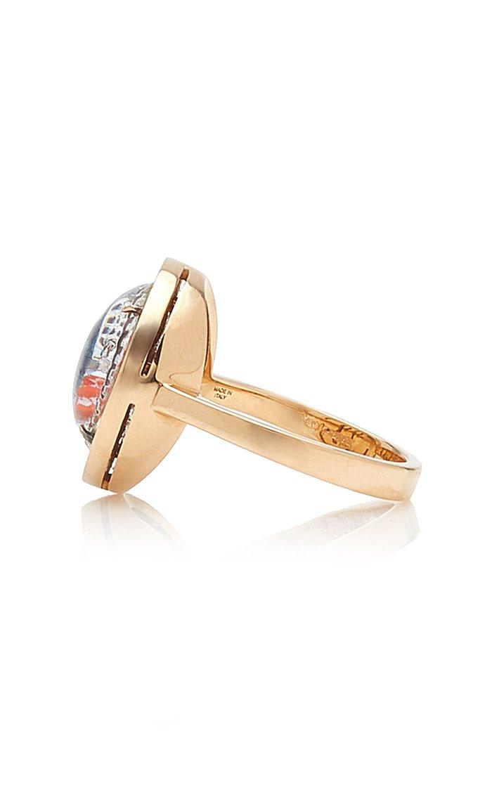 Being 18K Rose Gold Ruby, Crystal Ring