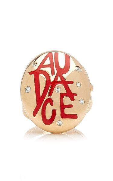 Audace 18K Rose Gold Diamond, Crystal Ring