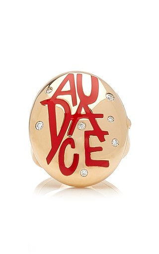 Audace 18K Rose Gold Diamond, Crystal Ring